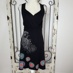 Desigual stretchy black dress NWT large